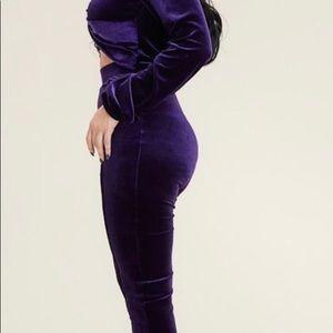 Other - Womens Velvet legging Set NEW